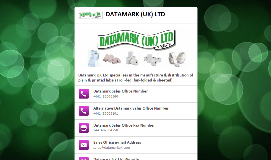 Datamark Launches New Mobile Domain
