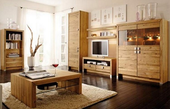Wooden furniture.
