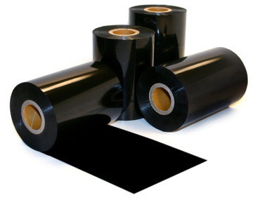 Rolls of Black Wax/Resin Thermal Transfer Ribbons.